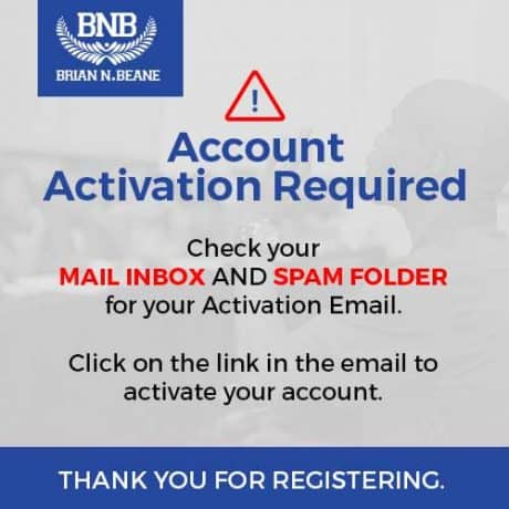 Don't forget to Activate Your Account